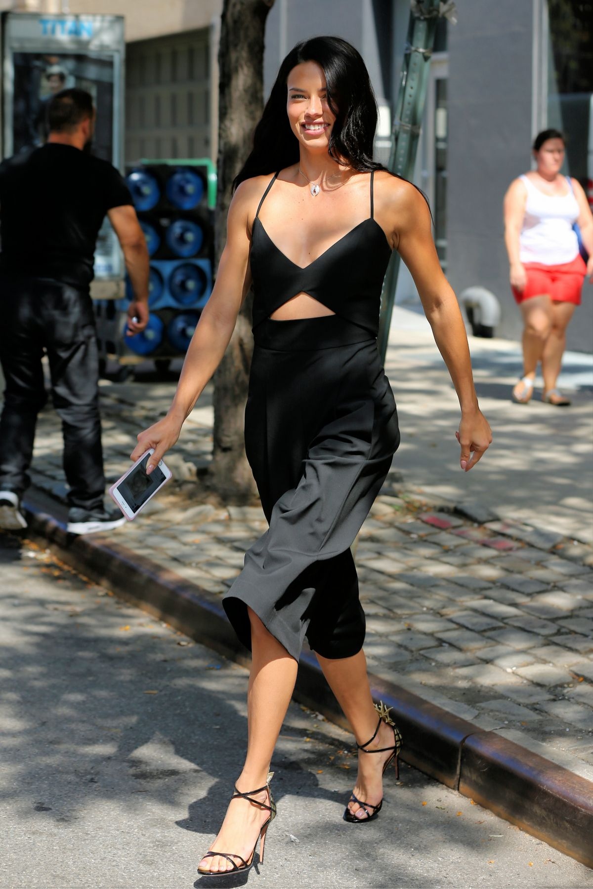 ADRIANA LIMA Leaves VS Photoshoot in New York 09/07/2016