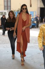 ADRIANA LIMA Out and About in Milan 09/24/2016
