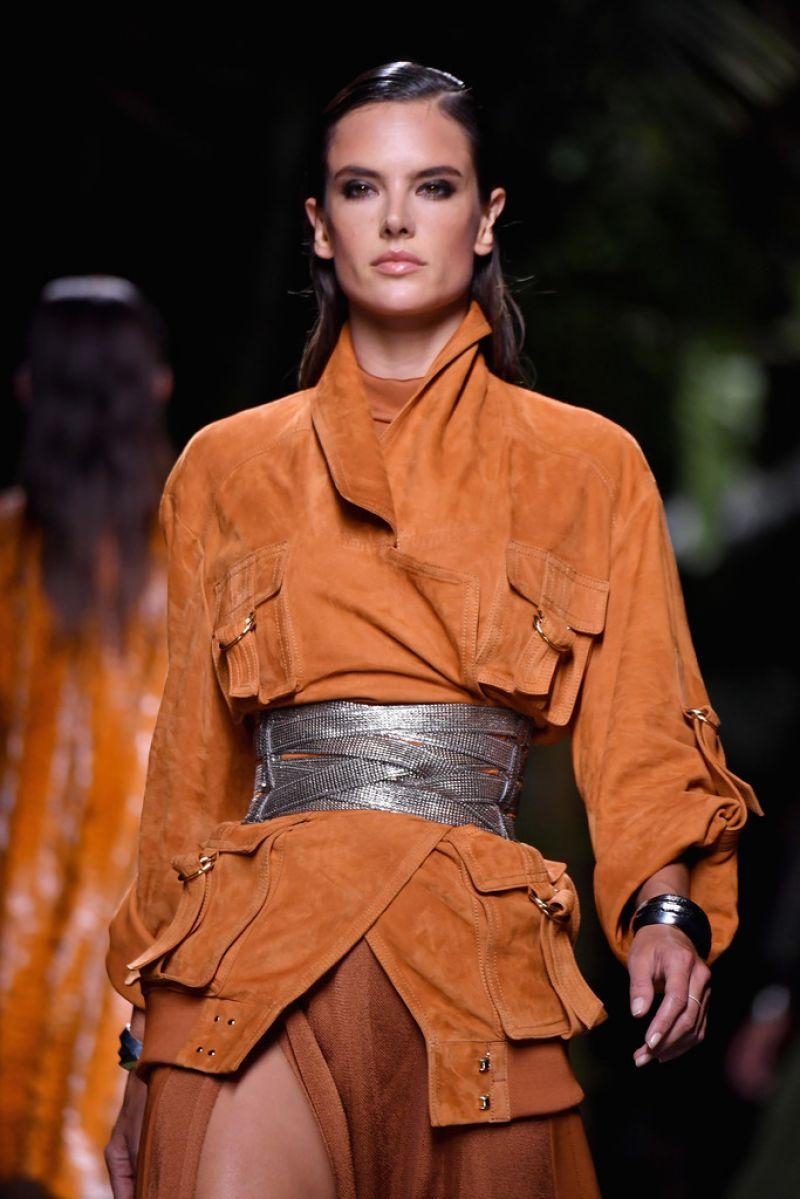 ALESSANDRA AMBROSIO at Balmain Fashion Show at Paris Fashion Week 09/29/2016
