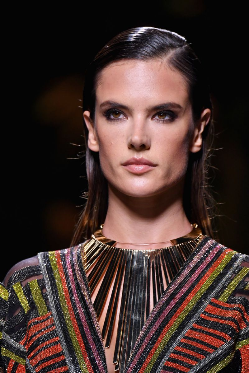 ALESSANDRA AMBROSIO at Balmain Fashion Show at Paris ... Alessandra Ambrosio