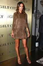 ALESSANDRA AMBROSIO at Giltlife Launch Party in New York 09/27/2016