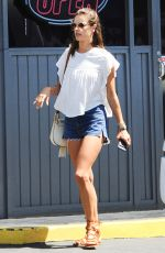 ALESSANDRA AMBROSIO in Denim Shorts Out in Los Angeles 08/31/2016