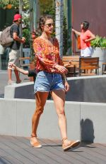 ALESSANDRA AMBROSIO in Jeans Shorts Out in Malibu 09/03/2016