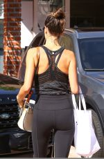 ALESSANDRA AMBROSIO Leaves Workout in Brentwood 09/01/2016