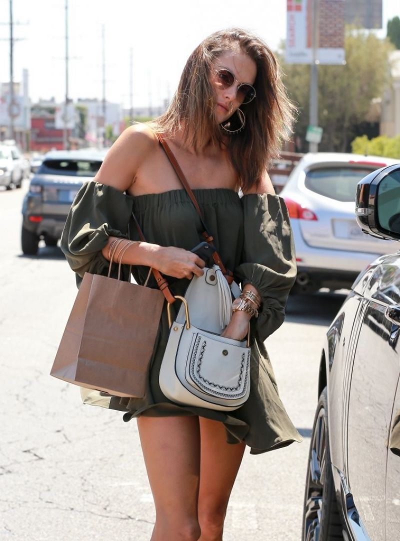 ALESSANDRA AMBROSIO Out and About in West Hollywood 09/01/2016