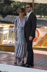 ALICIA VIKANDER and Michael Fassbender Arrives at Hotel Excelsior in Venice 09/01/2016
