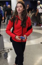 ALY RAISMAN at LAX Airport in Los Angeles 08/30/2016