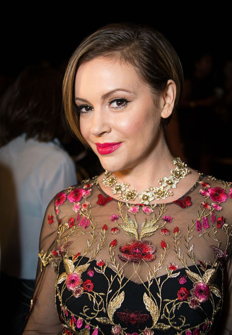 ALYSSA MILANO at Marchesa Fashion Show in New York 09/14/2016