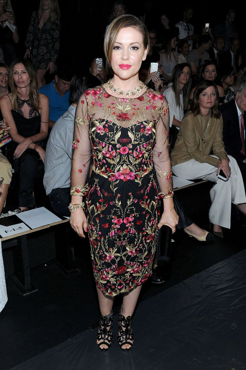 ALYSSA MILANO at Marchesa Fashion Show in New York 09/14/2016 – HawtCelebs