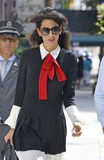 AMAL CLOONEY Out and About in New York 09/21/2016
