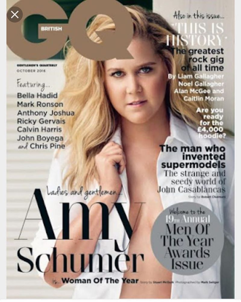 AMY SCHUMER in GQ Magazine, October 2016 Issue