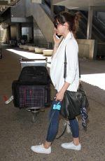 ANA DE ARMAS at LAX Airport in Los Angeles 08/31/2016
