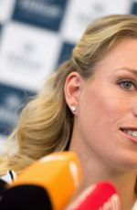 ANGELIQUE KERBER at Press Conference at Hilton Airport Hotel in Munich 09/13/2016