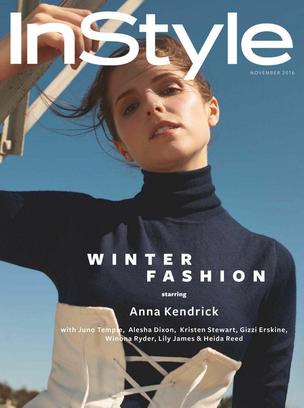 ANNA KENDRICK in Instyle Magazine, UK November 2016 Issue
