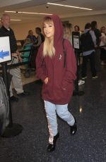 ARIANA GRANDE at LAX Airport in Los Angeles 09/15/2016