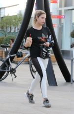 ASHLEY BENSON Heading to Soul Cycle in West Hollywood 09/28/2016