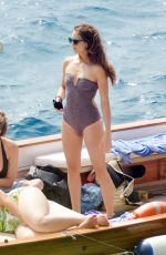 ASHLEY BENSON, SHAY MITCHELL and TROIAN BELLISARIO in Swismuit and Bikinis at a Boat in Capri 09/09/2016