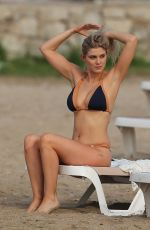 ASHLEY JAMES in Bikini at a Beach in Ibiza 09/23/2016
