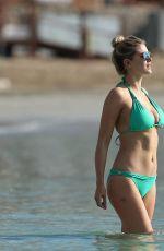 ASHLEY JAMES in Bikini on the Beach in Ibiza 09/02/2016