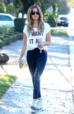 ASHLEY TISDALE Walks Her Dog Out in Los Angeles 09/08/2016