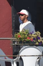 BARBARA PALVIN and Lewis Hamilton Out in Venice 08/31/2016