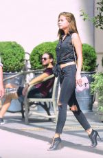 BARBARA PALVIN Leaves Her Hotel in New York 09/08/2016
