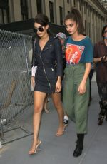 BELLA HADID and TAYLOR MARIE HILL Out in New York 09/14/2016