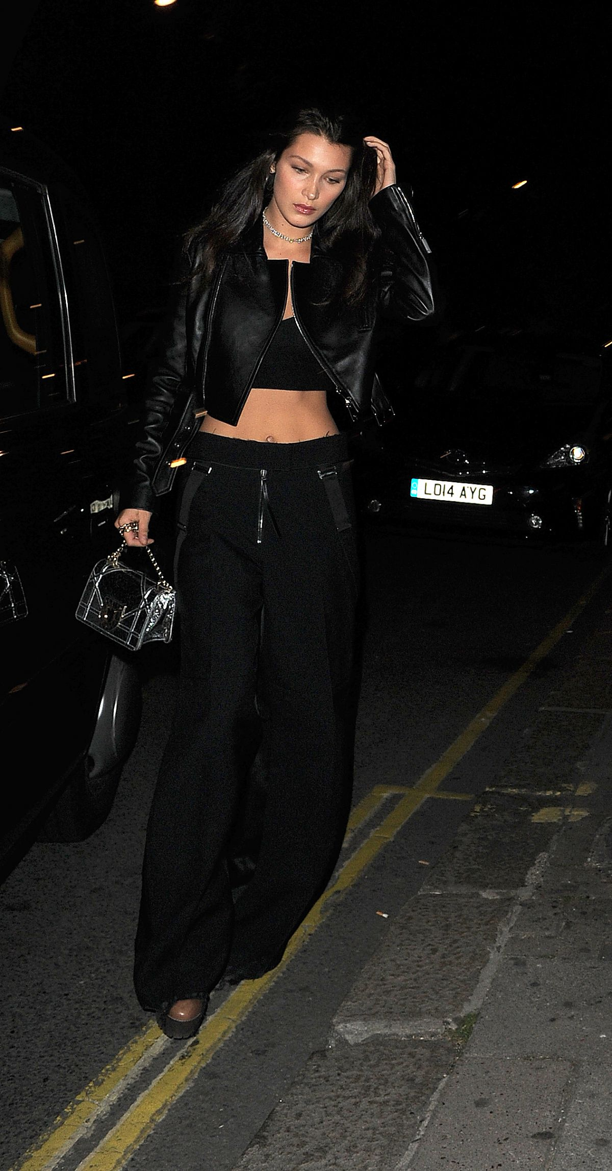 BELLA HADID at Sexy Fish Restaurant in London 09/18/2016