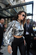 BELLA HADID Out in Milan 09/24/2016