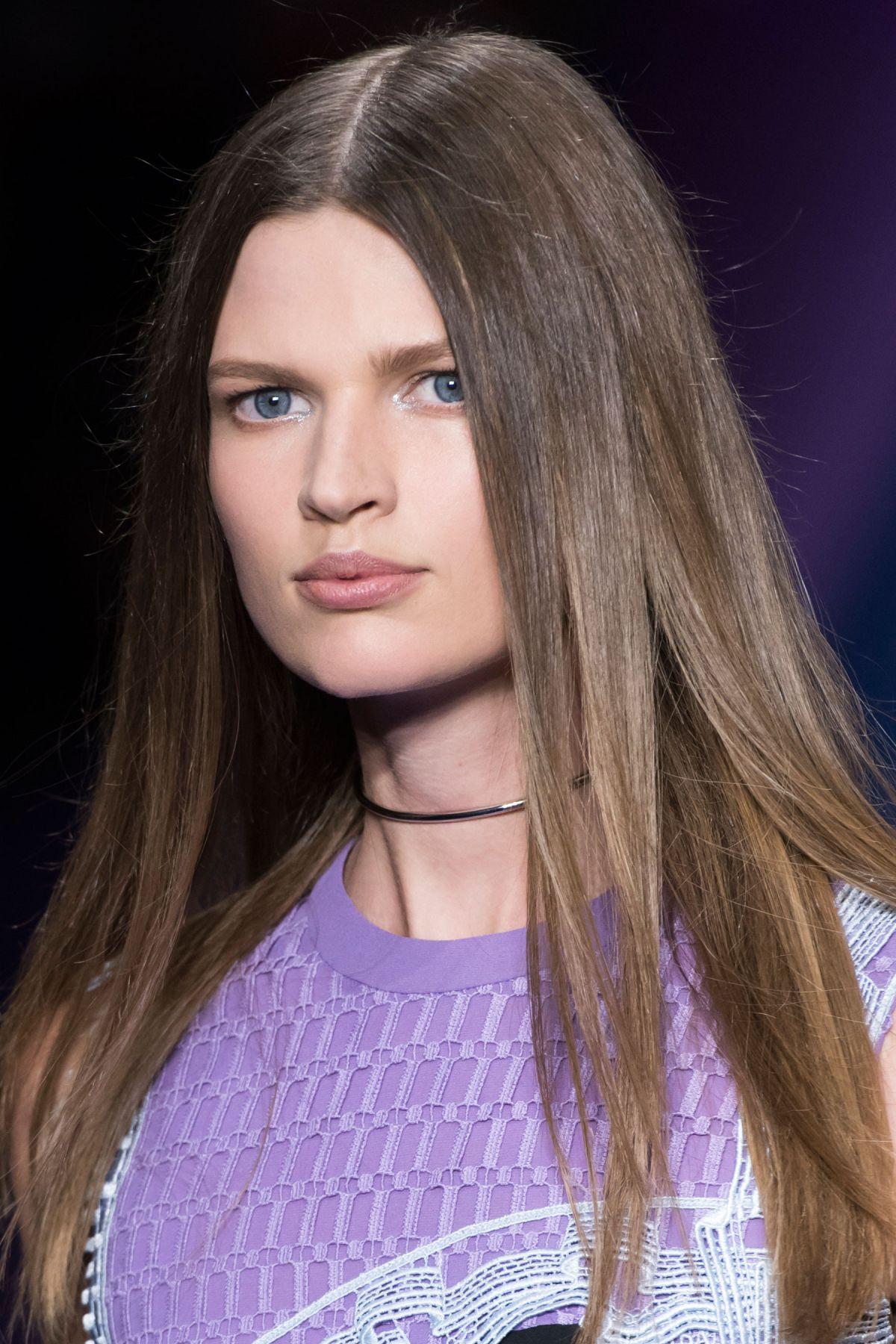 BETTE FRANKE at Versace Spring/Summer 2017 Fashion Show at Milan Fashion Week