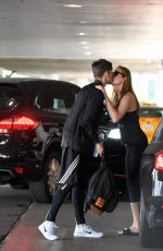 BRIE LARSON Kisses Alex Greenwald Out in West Hollywood 09/01/2016