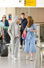 CARA DELEVINGNE at Heathrow Airport in London 09/09/2016