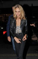 CARA DELEVINGNE at Love Magazine Party at Lou Lou's in Mayfair 09/19/2016