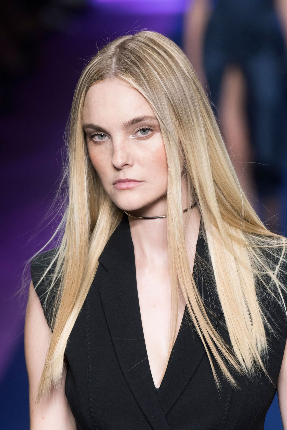 CAROLINE TRENTINI at Versace Spring/Summer 2017 Fashion Show at Milan Fashion Week