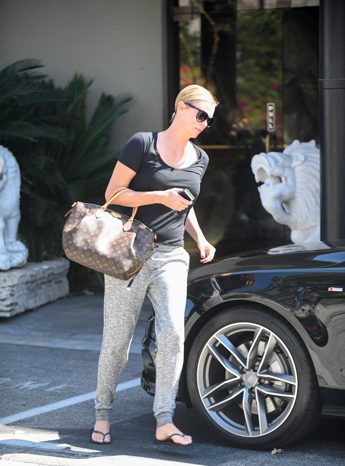 CHARLIZE THERON Leaves a Spa in Koreatown 09/06/2016