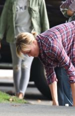 CHARLIZE THERON on the Set of