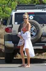 CHARLOTTE MCKINNEY in Bikini on the Beach in Hawaii 09/07/2016
