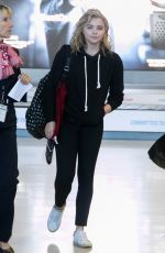 CHLOE MORETZ at Charles de Gaulle Airport in Paris 09/01/2016