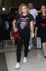 CHLOE MORETZ at LAX Aairport in Los Angeles 08/31/2016