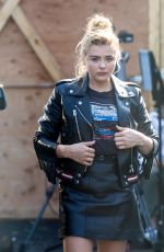 CHLOE MORETZ in Leather Out in New York 09/13/2016
