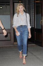 CHLOE MORETZ Leaves Her Hotel in New York 09/07/2016