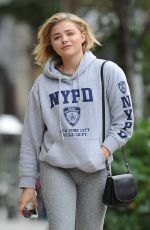 CHLOE MORETZ Out and About in New York 09/06/2016