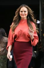CHRISSY TEIGEN Out and About in New York 09/13/2016