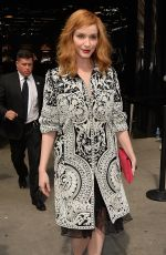 CHRISTINA HENDRICKS Arrives at Naeem Khan Fashion Show in New York 09/14/2016