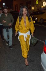 CHRISTINA MILIAN in a Golden Jumpsuit Leaves Up&Down nightclub in New York 09/11/2016