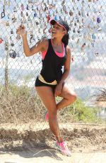CHRISTINA MILIAN Out Joggin in Los Angeles 08/31/2016