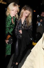 CLARA PAGET and AMBER HEARD at Love Magazine Party at Lou Lou's in Mayfair 09/19/2016