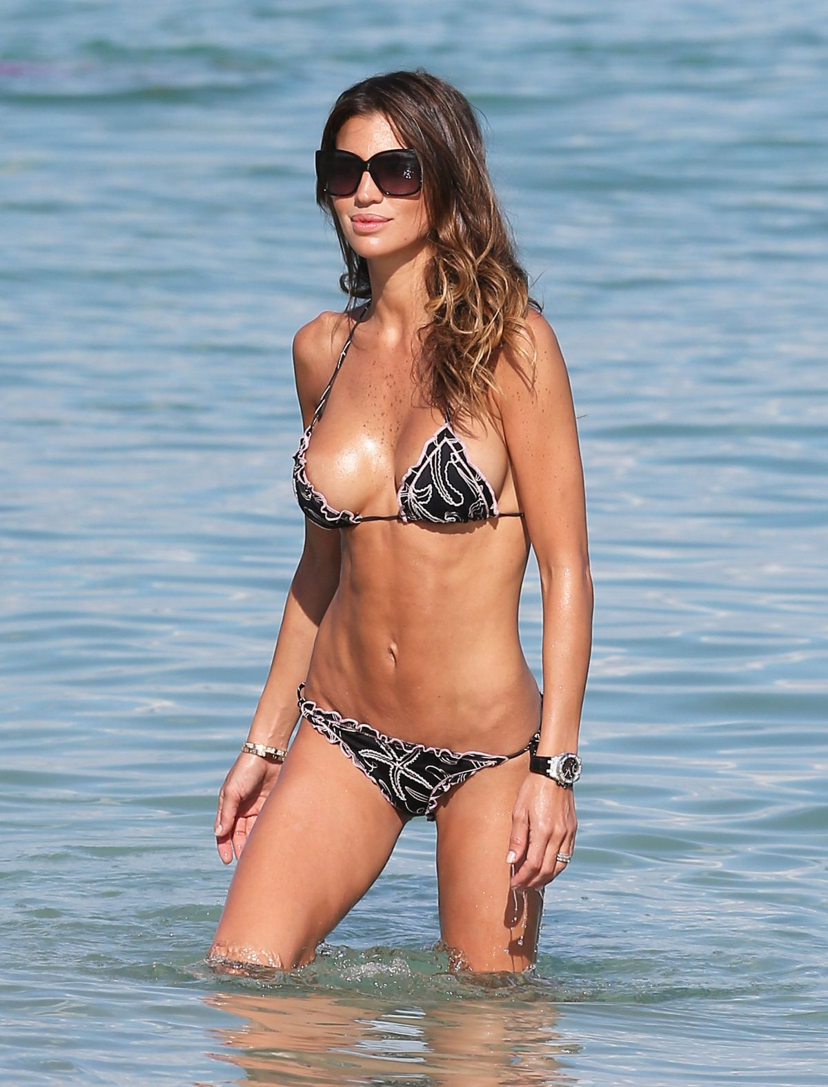 CLAUDIA GALANTI in Bikini at a Beach in Miami 09/19/2016