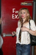 COURTNEY LOVE Leaves a Concert in West Hollywood 09/26/2016