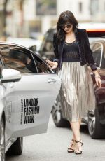 DAISY LOWE Out at London Fashion Week 09/20/2016